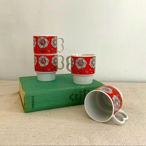 SOLD Vintage Stackable Set/4 Cups
